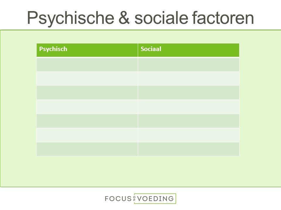 Psychische & sociale factoren PsychischSociaal