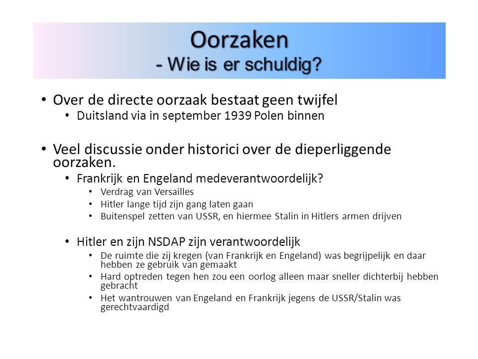 Over de directe oorzaak bestaat geen twijfel Duitsland via in september 1939 Polen binnen Veel discussie onder historici over de dieperliggende oorzaken.