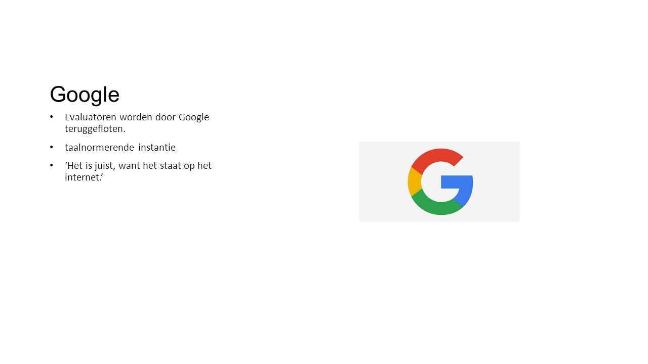 Google Evaluatoren worden door Google teruggefloten.