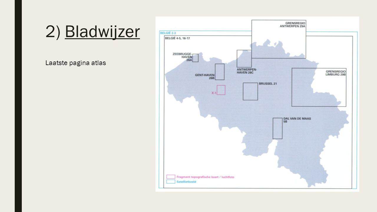 2) Bladwijzer Laatste pagina atlas