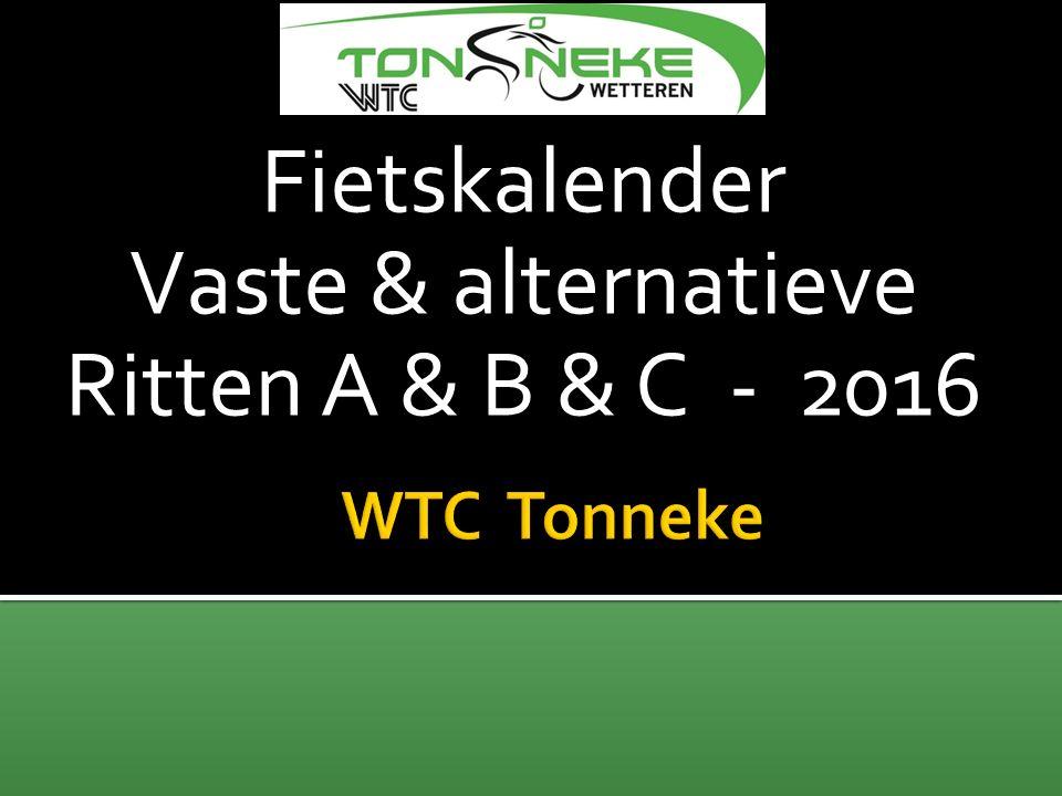 MEI 2016 Zwarte Woud Wanneer Pinsterweekend : vr 13/05 – ma 16/05 Planning (Opm : C ook wrslk !!) Vr 13/5 : vertrek (5u) – Rit 60km Za 14/5 : A & B rit (160 & 135 km) Zo 15/5 : A & B rit (135 & 115 km) Ma 16/5 : rit 50km – retour huis Kostprijs Fietser : 320€ Niet-Fietser : 300€ DEELNEMERS Status : 20/01/2016 Reeds 34 deelnemers Nog 1 plaats open !.