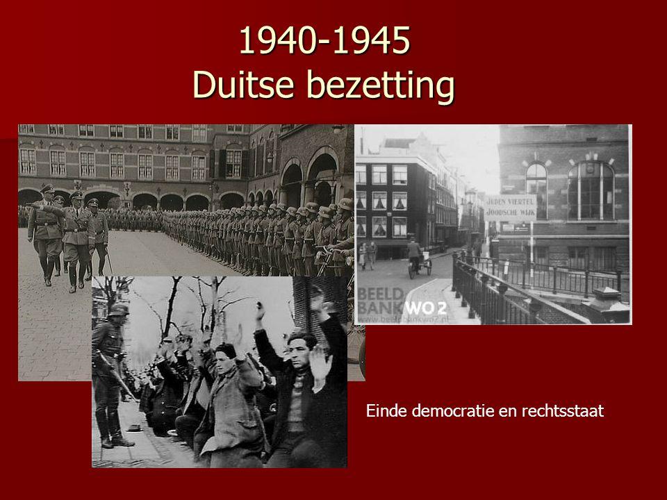 1940-1945 Duitse bezetting Einde democratie en rechtsstaat