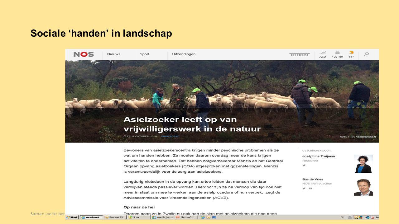 Sociale 'handen' in landschap Samen werkt beter voor landschap13