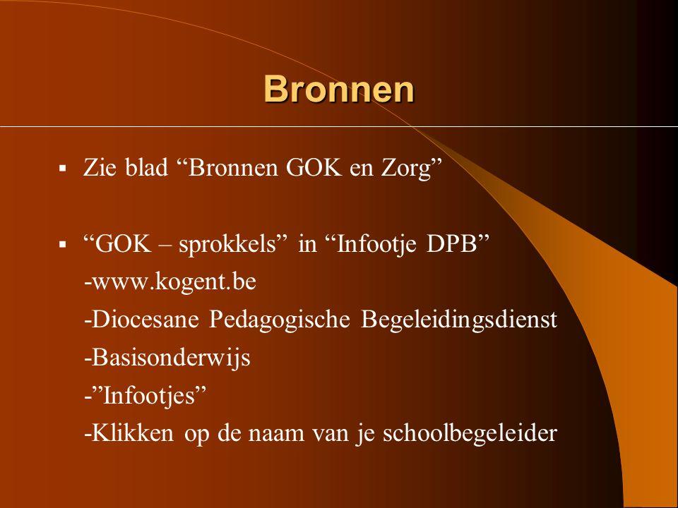 Ondersteuning  Schoolbegeleider  GOK - begeleider : Henk De Reviere (henk.dereviere@vsko.be)henk.dereviere@vsko.be Leonard Cleys (leonard.cleys@vsko.be)leonard.cleys@vsko.be  Begeleider kleuteronderwijs  Begeleider bewegingsopvoeding  Begeleider 2KP, Rand en Taal  CLB  Steunpunt GOK: www.steunpuntgok.bewww.steunpuntgok.be  Nascholing o.a.