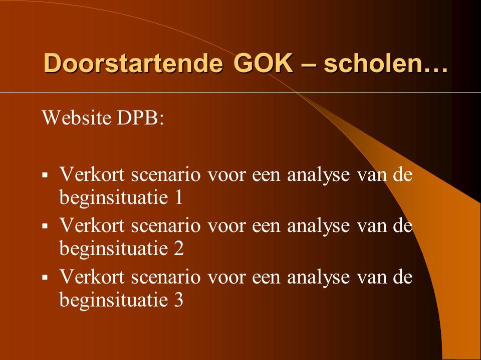 Instrument BSA GOK - 3 Algemeen screeningsinstrument voor een analyse van de beginsituatie van de BvL http://www.kogent.be/dpb-bo-leergebieden- home.htmhttp://www.kogent.be/dpb-bo-leergebieden- home.htm