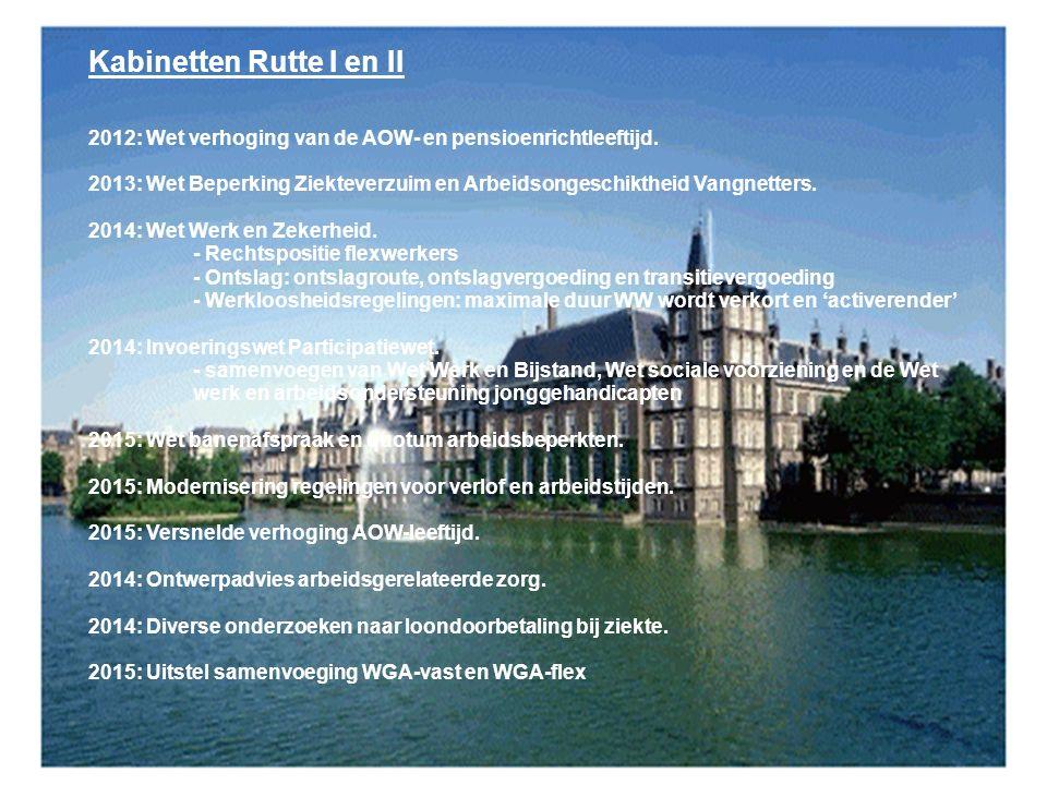10 Kabinetten Rutte I en II 2012: Wet verhoging van de AOW- en pensioenrichtleeftijd.