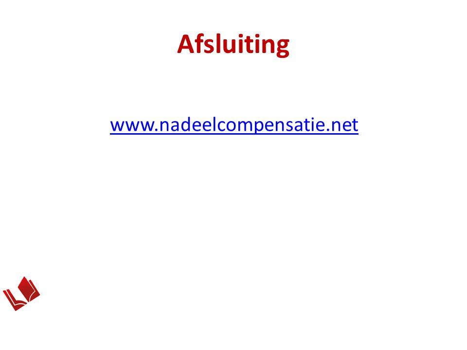Afsluiting www.nadeelcompensatie.net