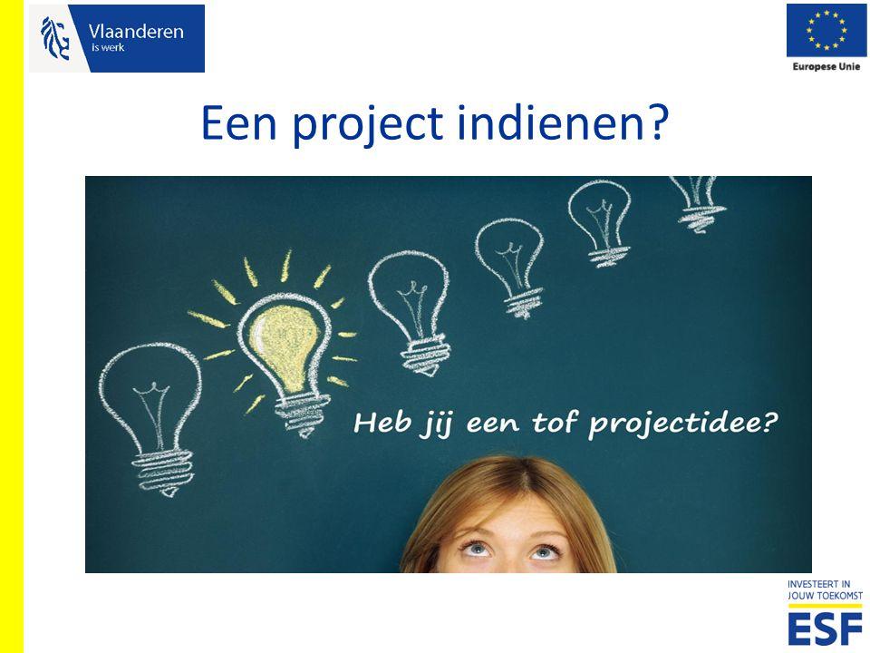 Een project indienen?