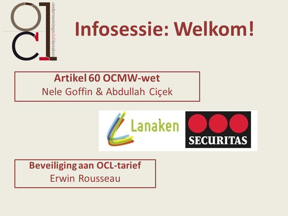 Infosessie: Welkom.