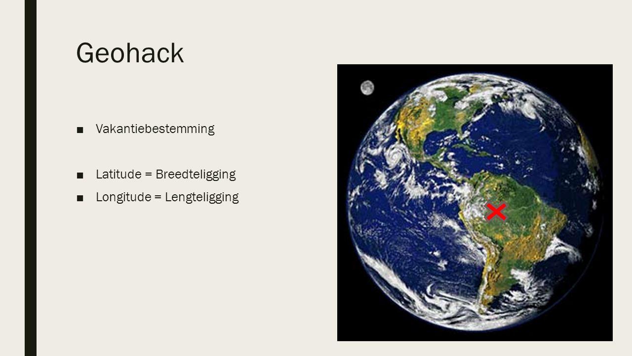 Geohack ■Vakantiebestemming ■Latitude = Breedteligging ■Longitude = Lengteligging