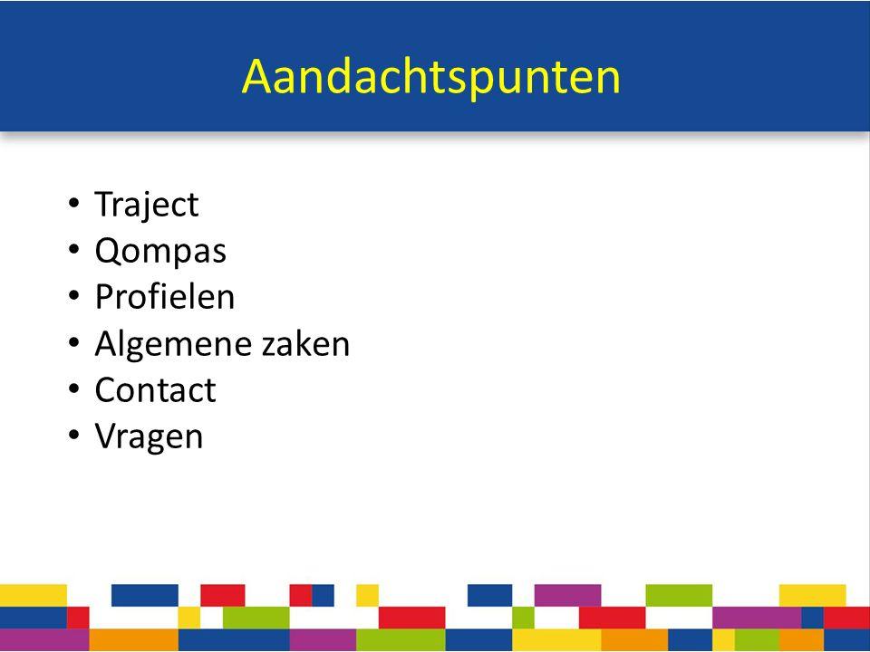 Aandachtspunten Traject Qompas Profielen Algemene zaken Contact Vragen