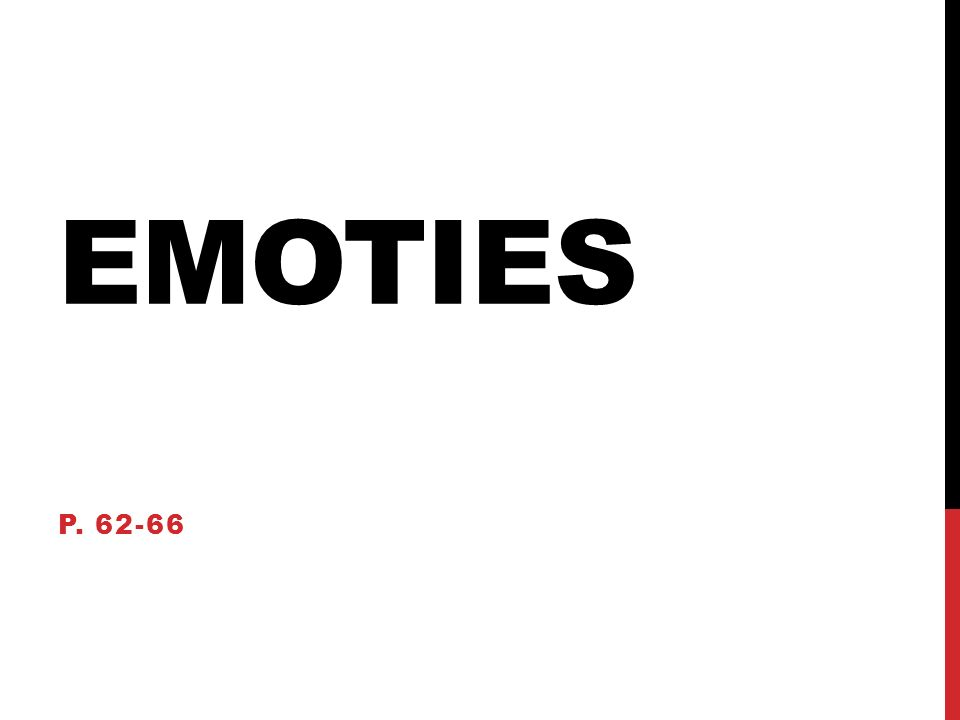 EMOTIES P. 62-66