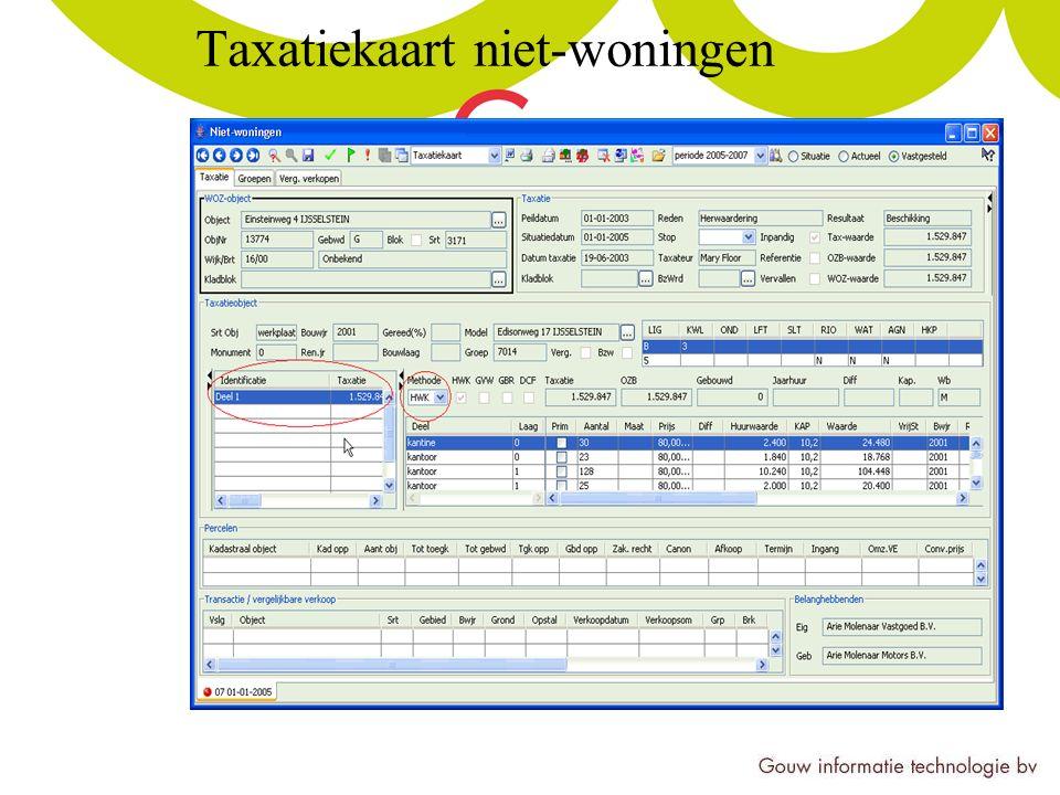 Taxatiekaart niet-woningen
