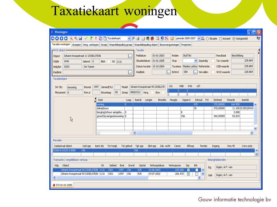 Taxatiekaart woningen