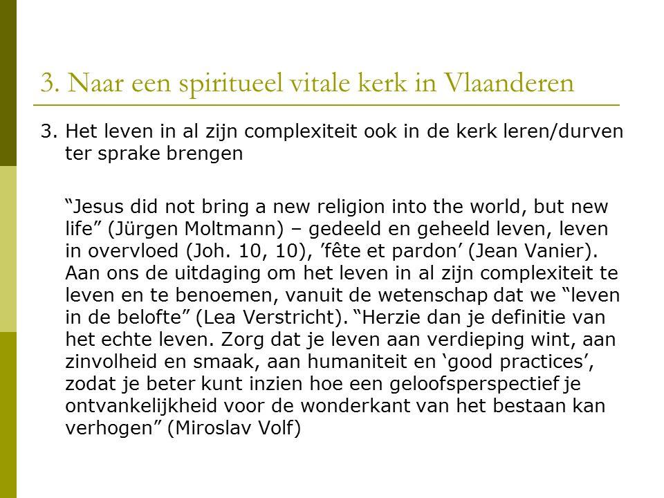3. Naar een spiritueel vitale kerk in Vlaanderen 3.
