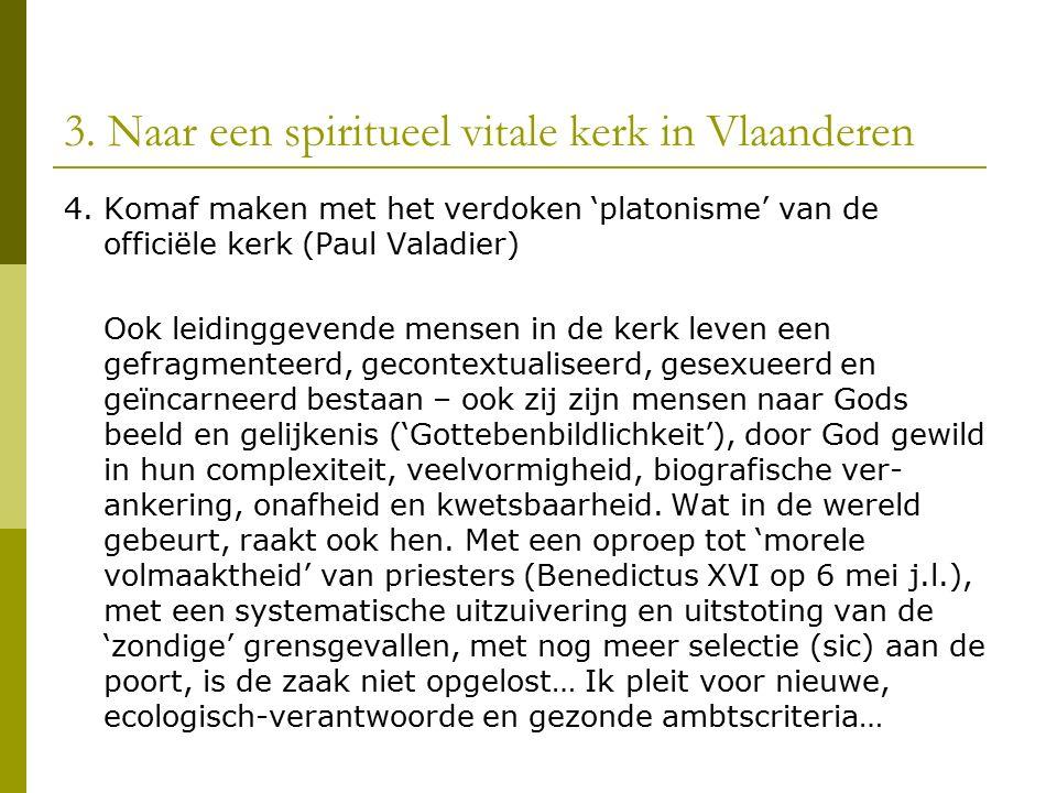 3. Naar een spiritueel vitale kerk in Vlaanderen 4.