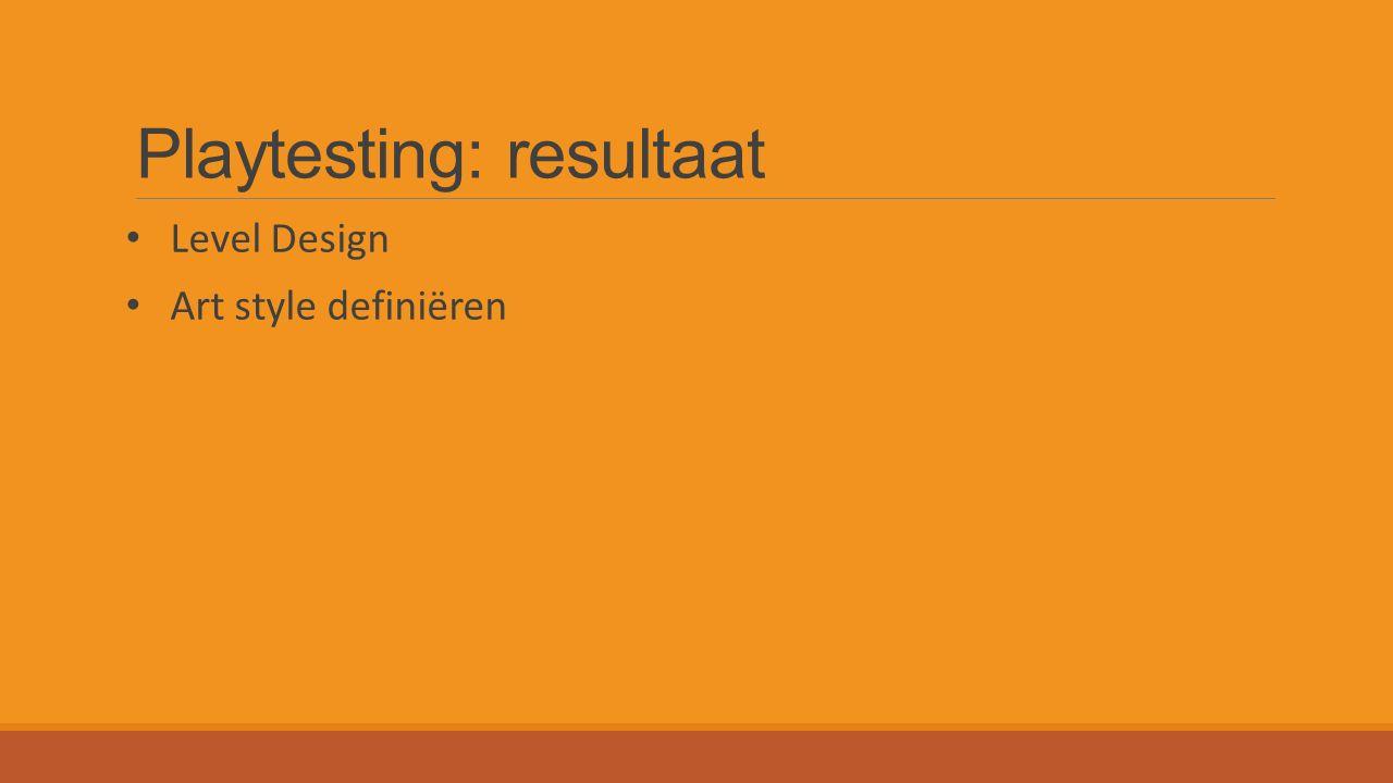 Playtesting: resultaat Level Design Art style definiëren