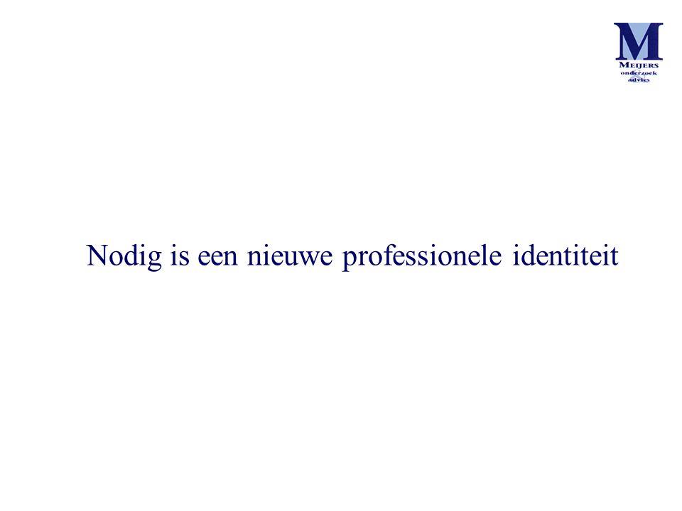 Nodig is een nieuwe professionele identiteit