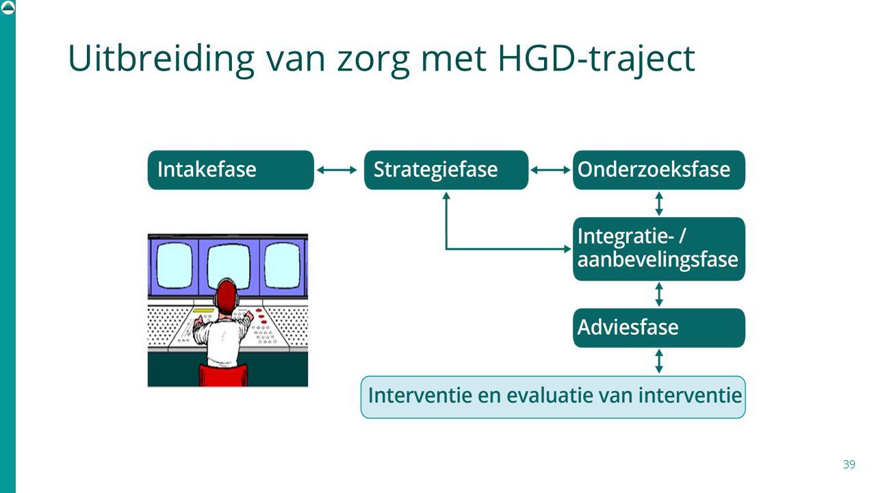 Uitbreiding van zorg met HGD-traject 39