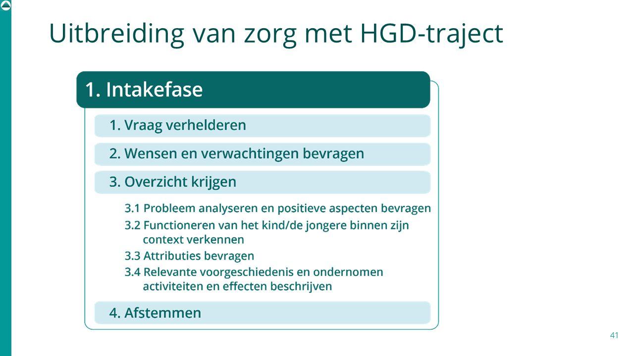 41 Uitbreiding van zorg met HGD-traject
