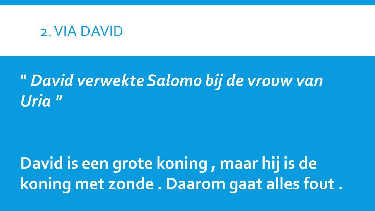 2. VIA DAVID