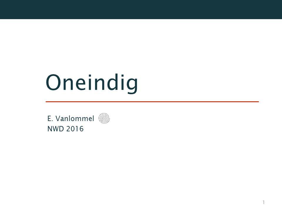 Oneindig E. Vanlommel NWD 2016 1