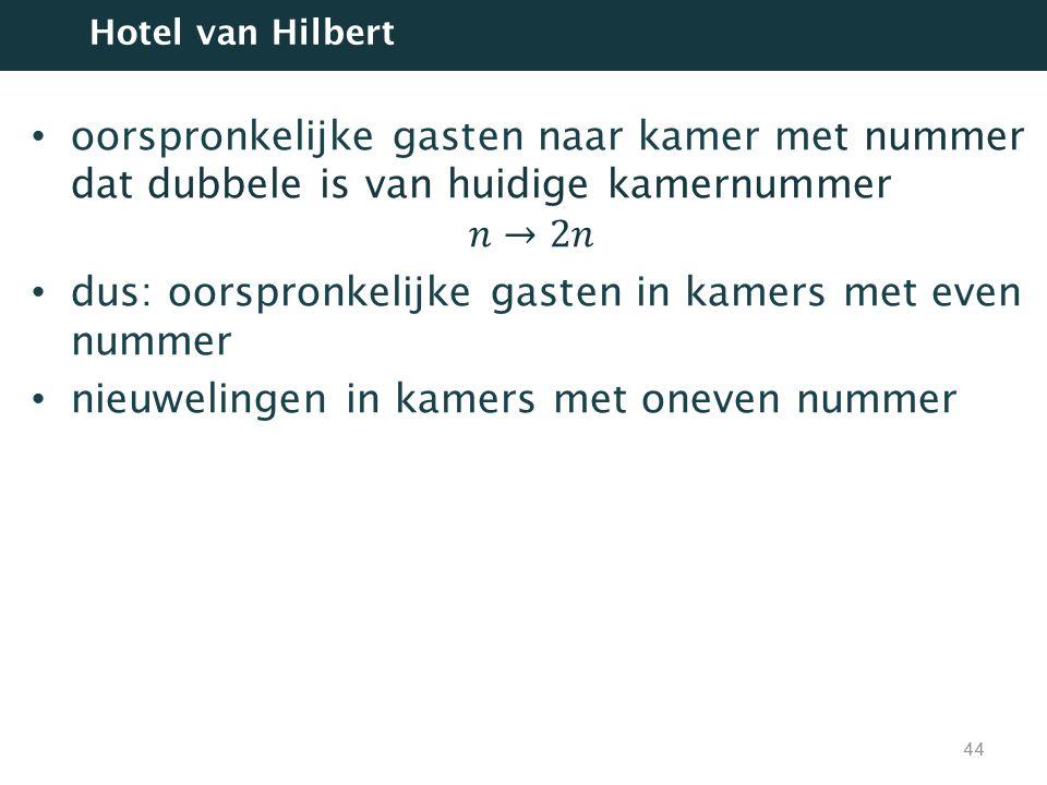 44 Hotel van Hilbert