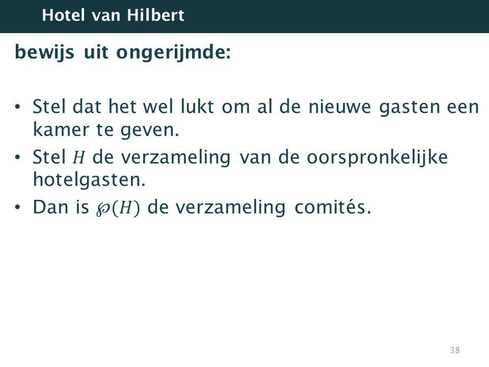 38 Hotel van Hilbert