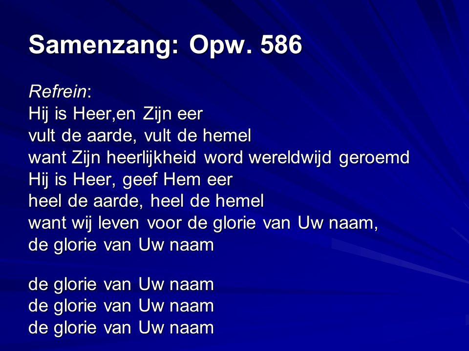 Zingen: Opw.488 Vertaling: Houd mij vast, laat Uw liefde stromen.