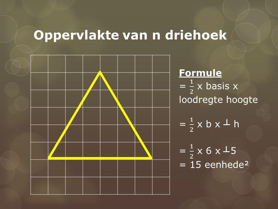 Oppervlakte van n driehoek