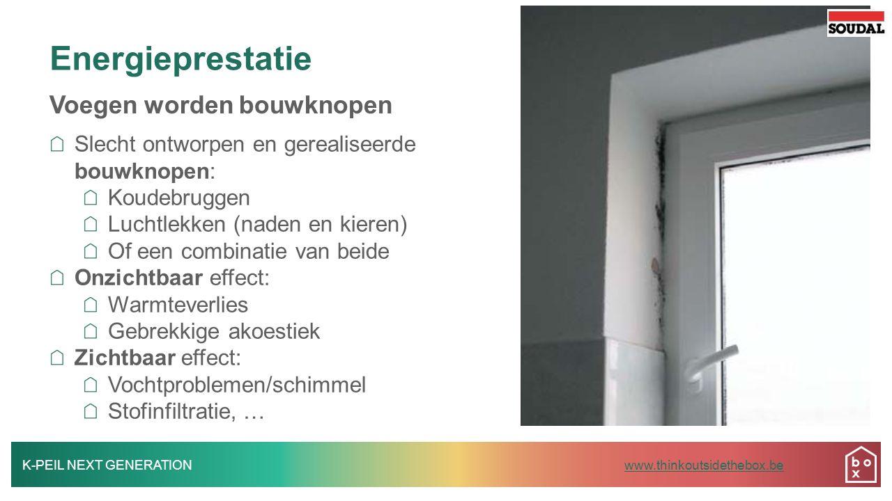 K-PEIL NEXT GENERATIONwww.thinkoutsidethebox.bewww.thinkoutsidethebox.be Vloeibaar membraan Soudatight SP: zonder vezels, luchtdicht, elastisch Vloer-wand en wand-plafond aansluitingen Airless verspuitbaar - gebruiksvriendelijk Kleurindicator Zeer lage emissie (binnengebruik)