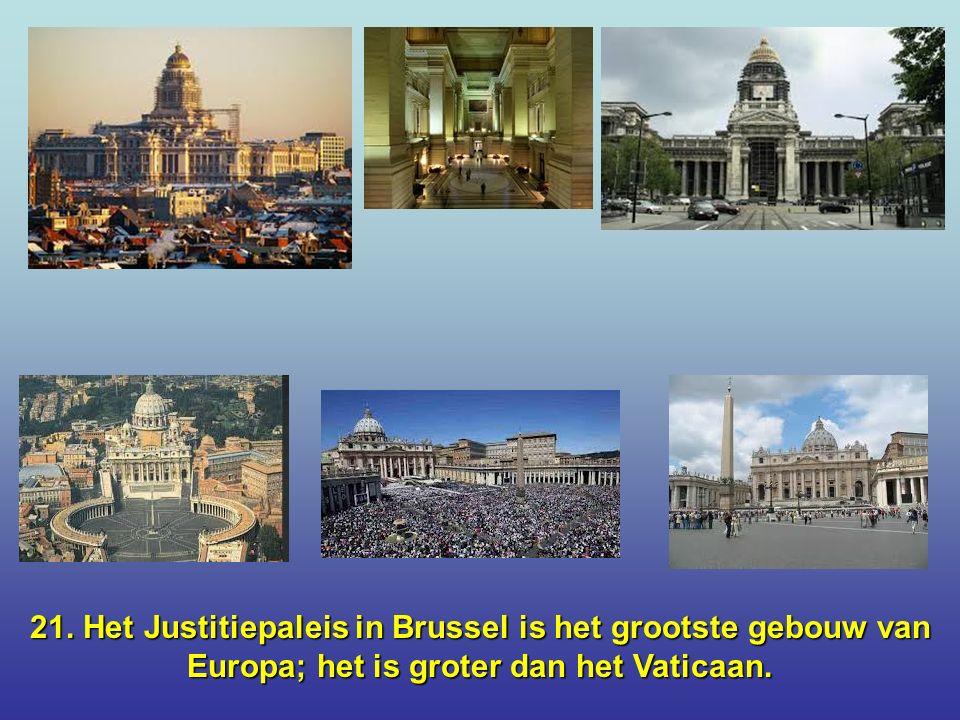 20. Het Brussels Koninkijk Paleis is groter dan Buckingham Palace.