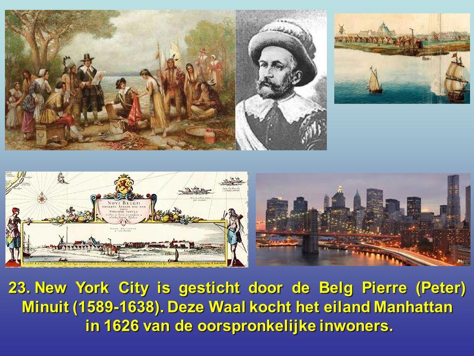 22. Franssprekend België is 's werelds grootste producent van stripverhalen per inwoner.