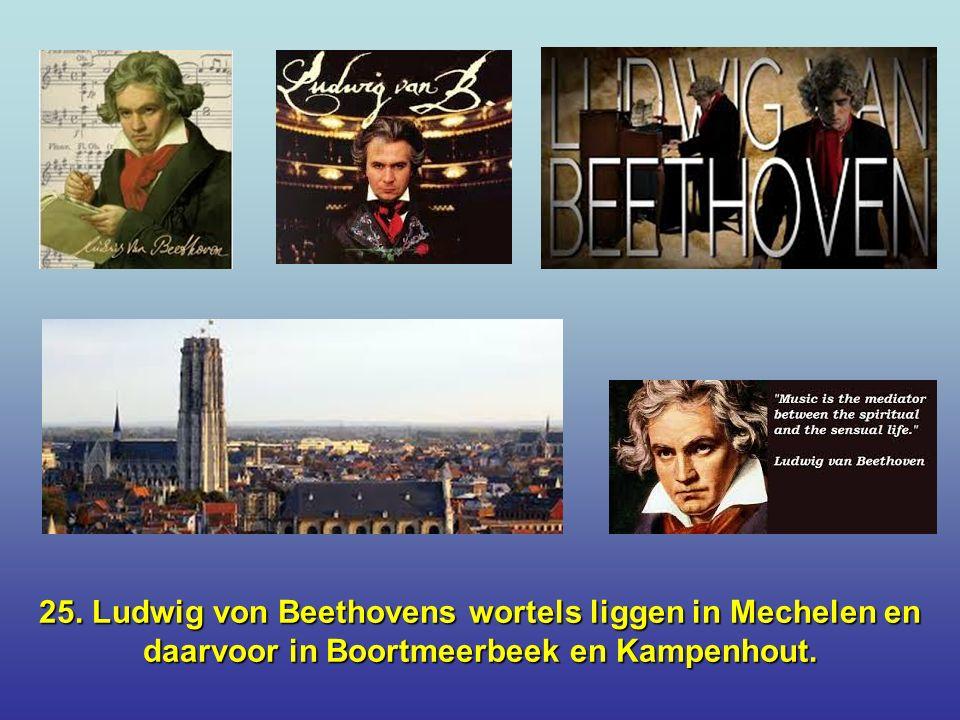 24. De eerste krant ter wereld heette Nieuwe Tijdingen en werd in 1605 in Antwerpen gedrukt door Abraham Verhoeven.