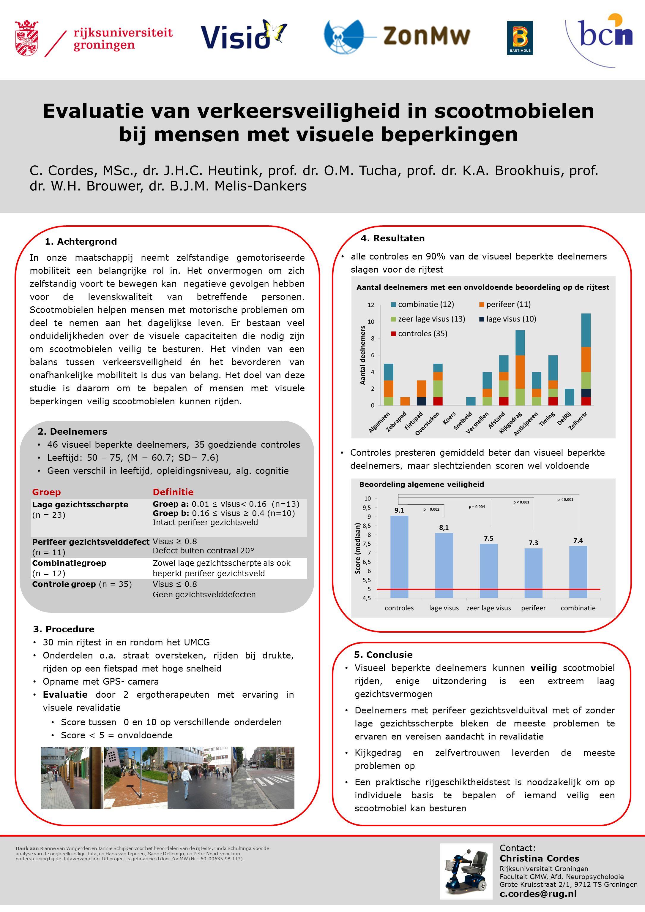 Evaluatie van verkeersveiligheid in scootmobielen bij mensen met visuele beperkingen C.