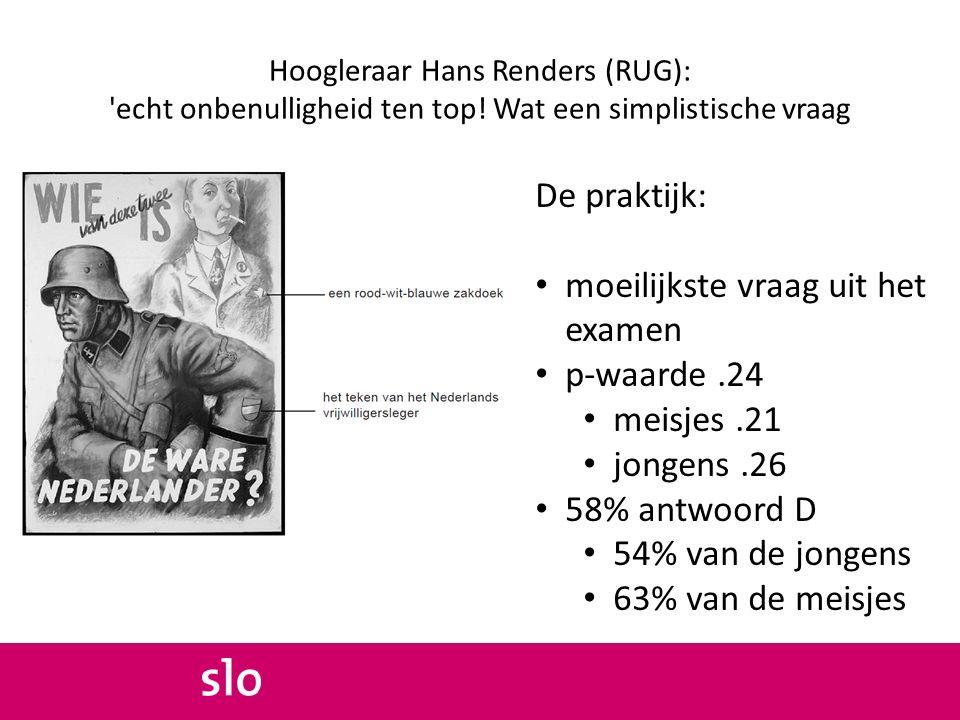 Hoogleraar Hans Renders (RUG): echt onbenulligheid ten top.