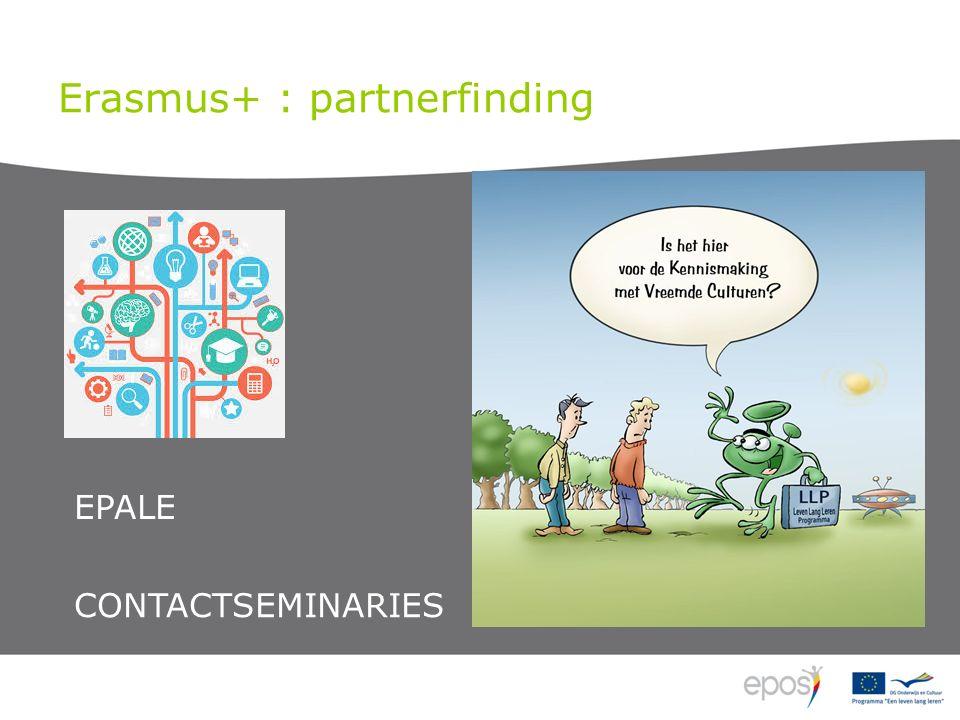 Erasmus+ : partnerfinding EPALE CONTACTSEMINARIES