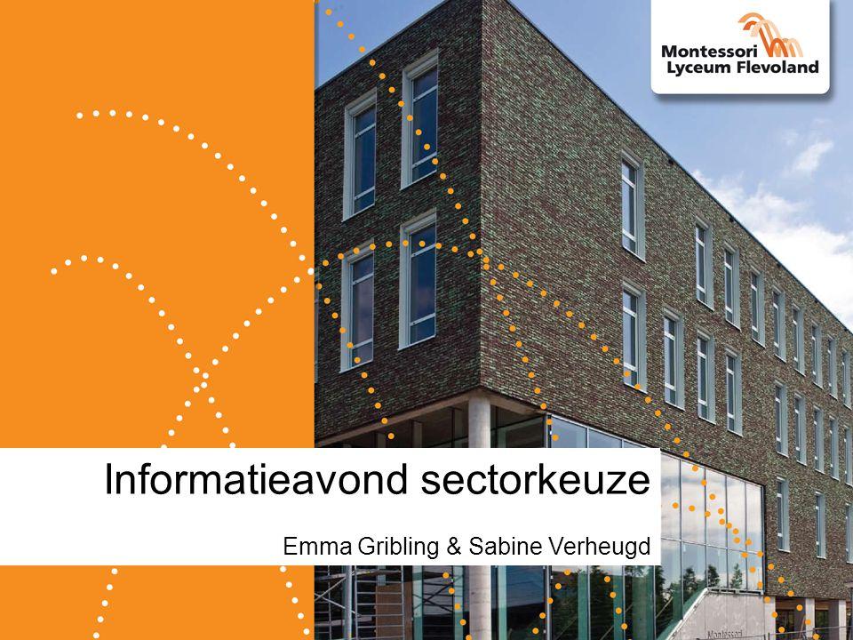 Informatieavond sectorkeuze Emma Gribling & Sabine Verheugd