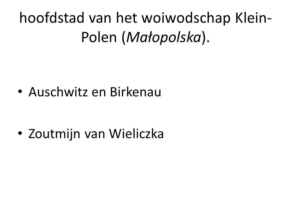 hoofdstad van het woiwodschap Klein- Polen (Małopolska).