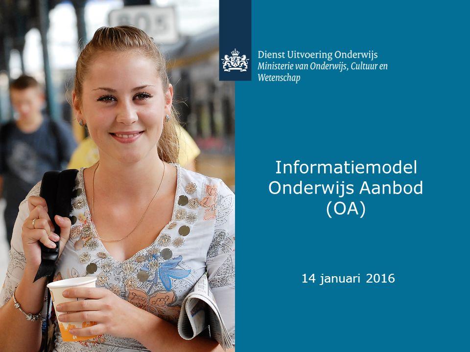 Informatiemodel Onderwijs Aanbod (OA) 14 januari 2016