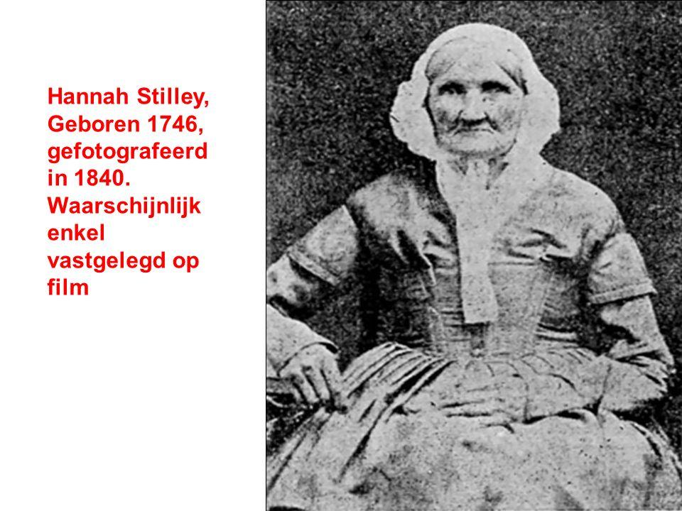 Hannah Stilley, Geboren 1746, gefotografeerd in 1840. Waarschijnlijk enkel vastgelegd op film