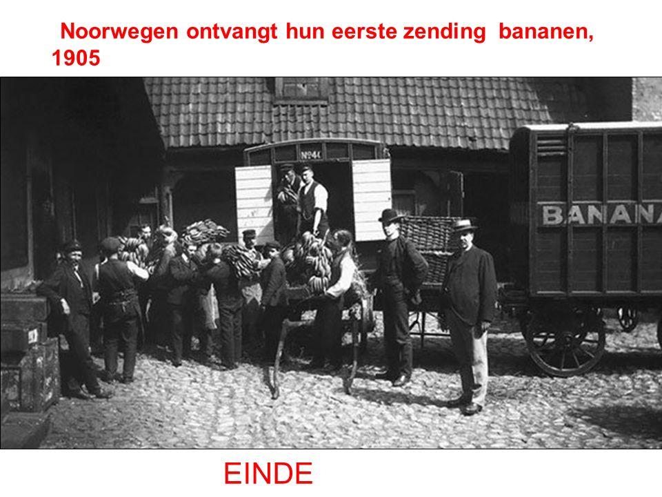 Noorwegen ontvangt hun eerste zending bananen, 1905 EINDE