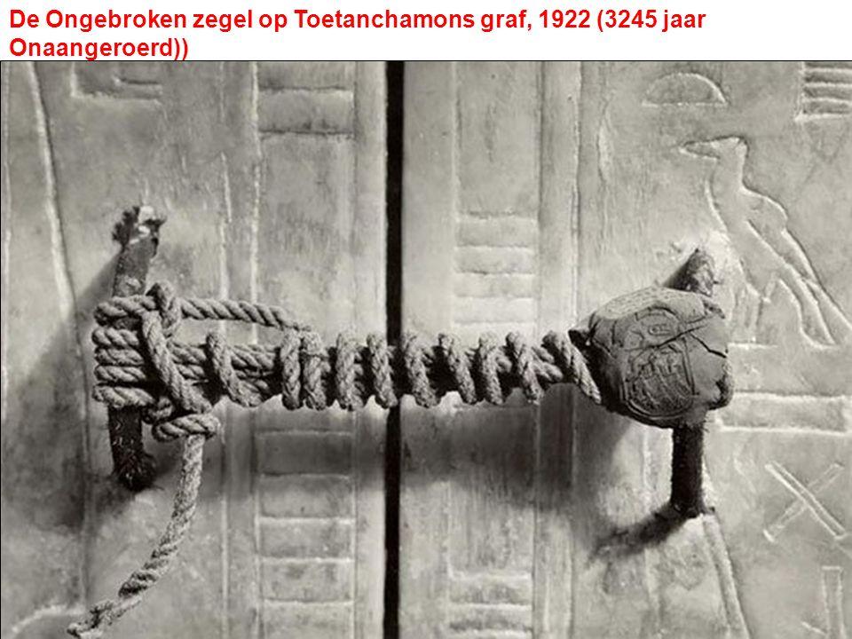De Ongebroken zegel op Toetanchamons graf, 1922 (3245 jaar Onaangeroerd))