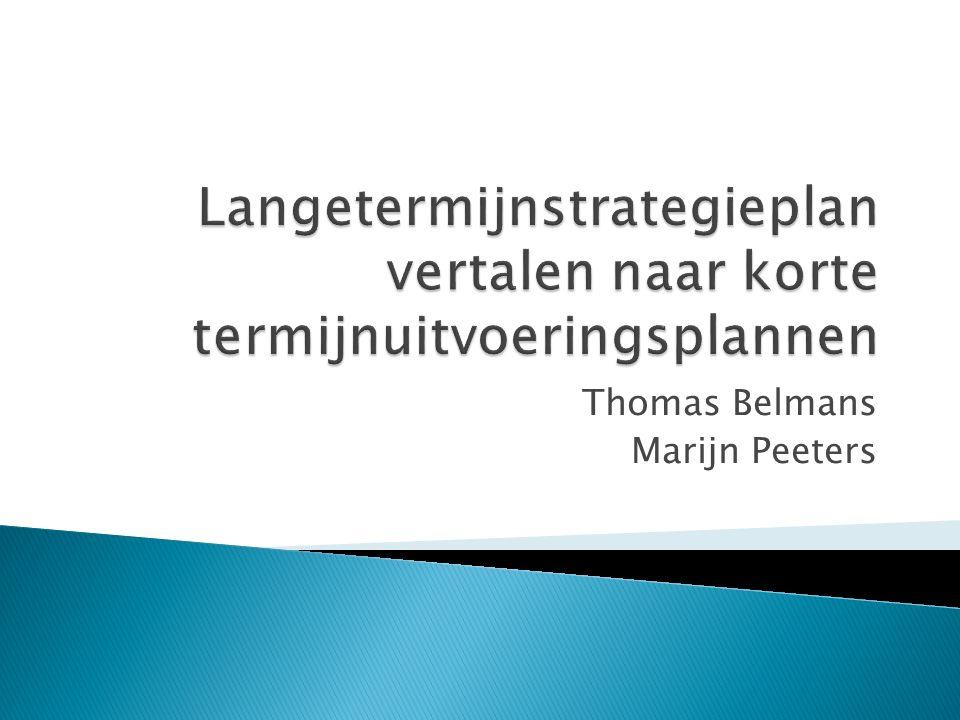  LT strategieplan naar kort termijnplan  Waarom KT plannen en budgetten ontwikkelen  Hoe KT plannen en budgetten ontwikkelen  Strategisch kader jaarplan en budget bepalen  KT plan opstellen  Actieplannen opstellen voor belangrijke projecten  Actieplan voor belangrijke projecten  KT financieel budget  Verschil tussen LT en KT strategieplan.
