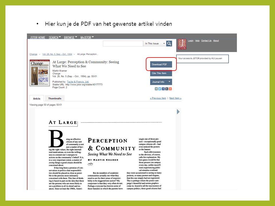 Hier kun je de PDF van het gewenste artikel vinden