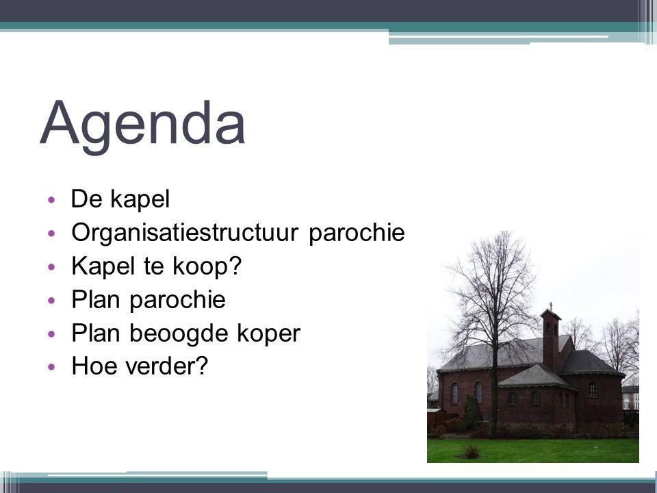 Agenda De kapel Organisatiestructuur parochie Kapel te koop.