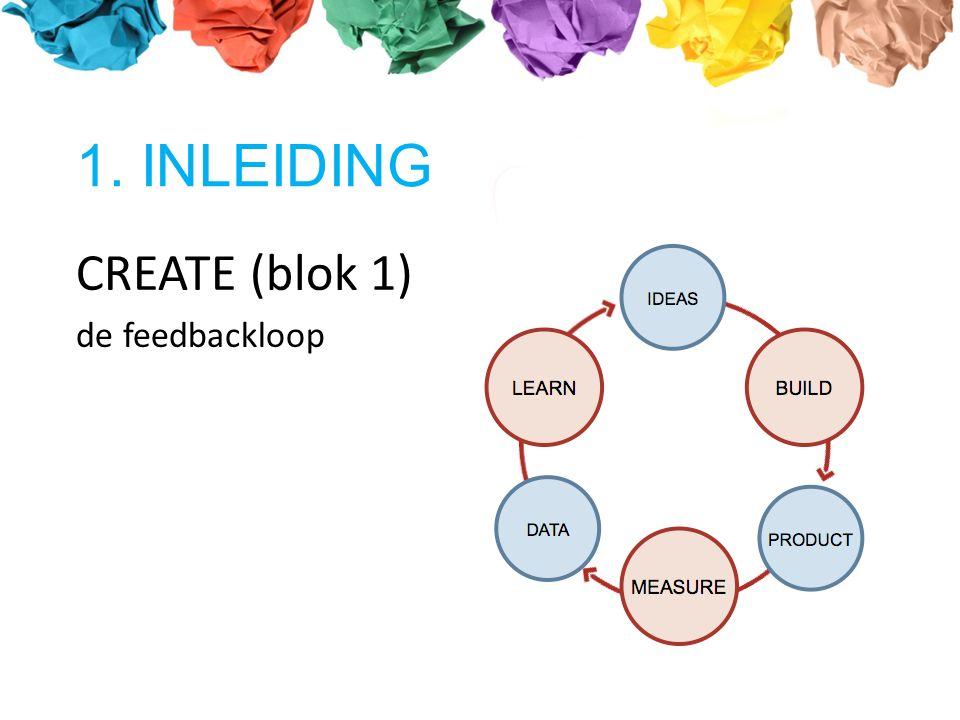 CREATE (blok 1) de feedbackloop 1. INLEIDING