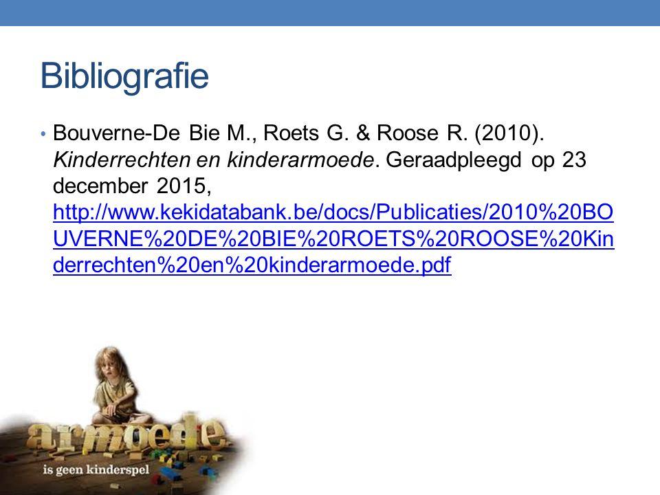 Bibliografie Bouverne-De Bie M., Roets G. & Roose R.