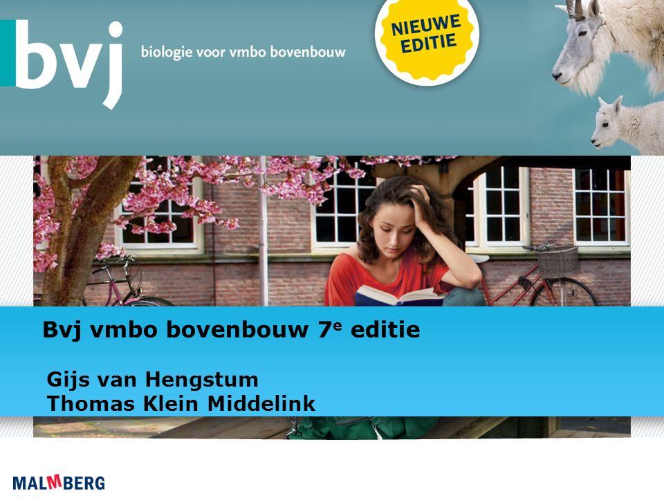 Bvj vmbo bovenbouw 7 e editie Gijs van Hengstum Thomas Klein Middelink