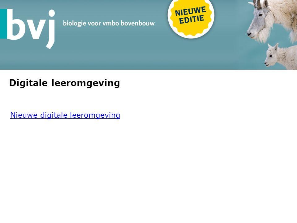 Digitale leeromgeving Nieuwe digitale leeromgeving